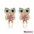 Cute Owl Austrian Crystal Earrings (ER0006-C)