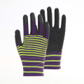 Special polyester zebra pattern Durable PU gloves