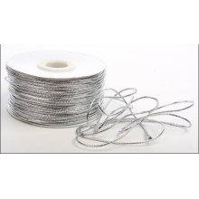 Factory price supply silver metallic cord