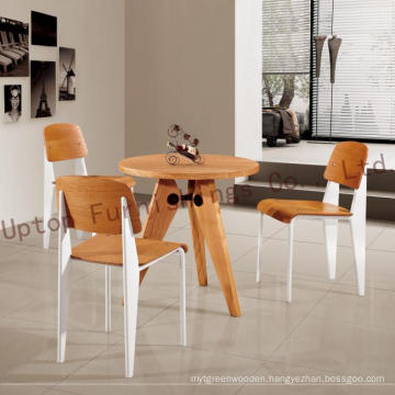 Restaurant Wooden Jean Prouve Gueridon Table and Chair (SP-CT527)