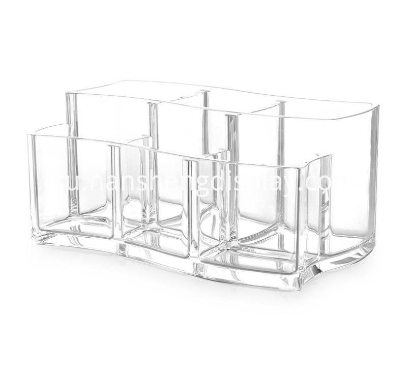 Clear Makeup Organizer Brush Holder