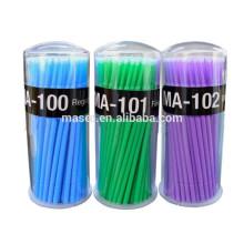 Cepillo micro de la fibra de la alta calidad, desechables SML tamaño micro cepillos para la extensión de la pestaña