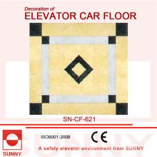 Couleurs nobles du plancher de PVC pour la décoration du plancher de voiture d'ascenseur (SN-CF-621)