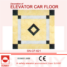 Cores nobres de piso de PVC para a decoração do assoalho do carro do elevador (SN-CF-621)