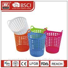 panier à linge plastique PE avec des articles ménagers de panier/plastique de poignée/stockage