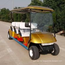 Billiger Golfwagen mit zwei zurück in Richtung zum Sitzer
