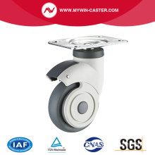 Plate Swivel TPR Medical Caster Wheel