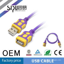 SIPU high quality 2.0 round colorful usb data charger cable usb rs232