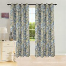 Rideau en panneau de fenêtre en jacquard de polyester