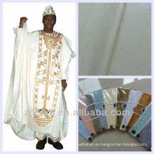 Buena calidad promoción Guinea Brocade textiles de algodón suave Damasco Shadda Bazin Riche tela africana de la ropa