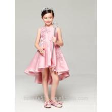 Filles première communion robe scoop décolleté tissu en coton sans manche pour robes filles habillement ED774