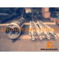 Vis jumelée conique et canon pour PVC