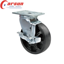 100 Heavy Duty Swivel High Temperature Wheel Caster (with side brake)