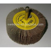 Roue à lamelles abrasive de haute qualité et bon prix pour l'acier inoxydable