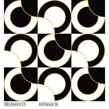 Nuevo diseño azulejos pulidos de alfombra de oro con 600X600mm (BDJ60433)