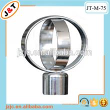 Hochwertige dekorative fancy Eisen Duschvorhang Stange mit Finial