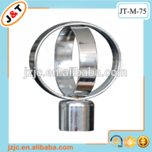 high quality Decorative fancy iron shower curtain rod with finial