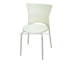Metall-Stahlrohr-Esszimmerstuhl, weißer Restaurant-Stuhl