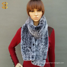 New Style Fashionable Knit Fur Scarf Rabbit Fur Scarf For Women