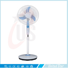 16 Inch AC DC Rechargeable Pedestal Standing Fan with Remote Control