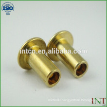 round head 3mm brass rivets