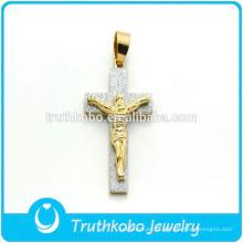 Jóias Cruz Cristã Cruz De Aço Inoxidável Pingente JESUS Stiker Charme Pingente de Presente Católico Atacado Para O Homem
