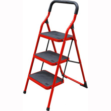Red Household Indoor Steel 3 Steps Ladder safety climbing ladder