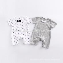 Traje de mameluco de bebé unisex 100% algodón de alta calidad
