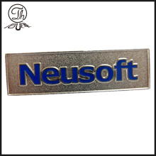Custom embossed logo metal nameplates