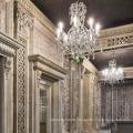 luxury crystal customized candlestick led chandelier light