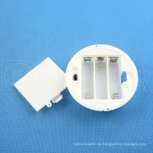 Daier rund 3x1.5v aa Batteriehalter mit Deckel 3x1.5v aa Batteriehalter