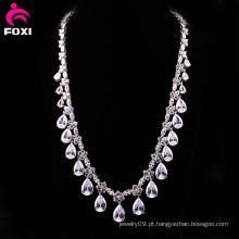 Colar de moda elegante zircão jóias finas