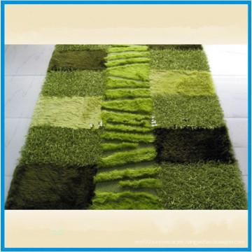 Green Soft and Silk Shaggy Elegant Carpet for Home Decor