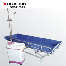 Cama do banho de chuveiro do trole do banho do hospital DW-HE019