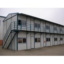 Maison temporaire modulaire préfabriquée de structure en acier (KXD-pH1466)