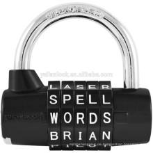 High Security Wordlock Pl-004-Bk 5-Zifferblatt Kombi Vorhängeschloss