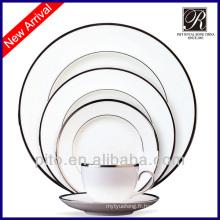 Ensembles de vaisselle modernes en porcelaine de 20 pcs
