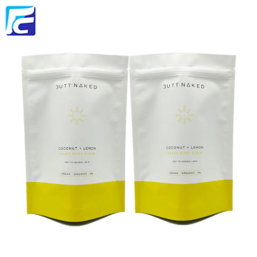 Custom printed foil stand up pouch coffee bags