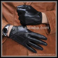Hombres cuero genuino importador guante elástico