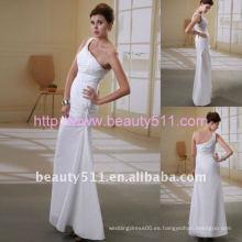 Astergarden nuevo estilo de un hombro de satén beading boda dressAS056