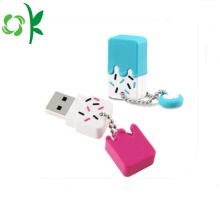 Ice-cream Siliconen USB Flash Drive Case U-disk hoes