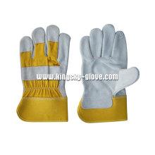 Yellow Cow Split Full Palm Working Glove-3056.01