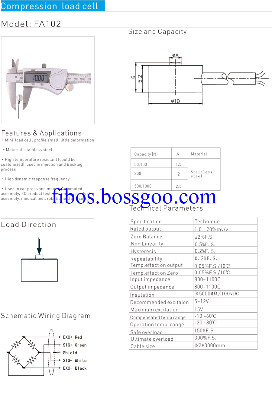 mini compression load cell