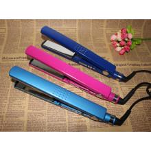 Pantalla LCD profesional titanio placa PTC rápido alisadores para el cabello