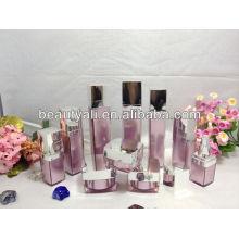 125ml square PMMA cosméticos embalaje botellas de loción de acrílico