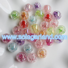 12MM Acrylic Crystal Crack Beads Loose Spacer Charms Round Beads For Jewelry Making