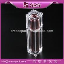 Bouteille de lotion acrylique carrée pour emballages cosmétiques, bouteille de bouteilles décontractées de luxe de 30ml 50ml 80ml 120ml