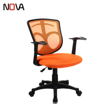 Ergonomic Computer Orange Mesh net adjustable reclining office desk chair