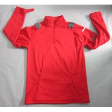 Yj-1070 Mens Red Lightweight Fleece Waterproof Breathable Softshell Jacket