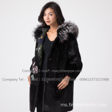 WInter Copenhagen Mink Fur Coat Lady Reversible